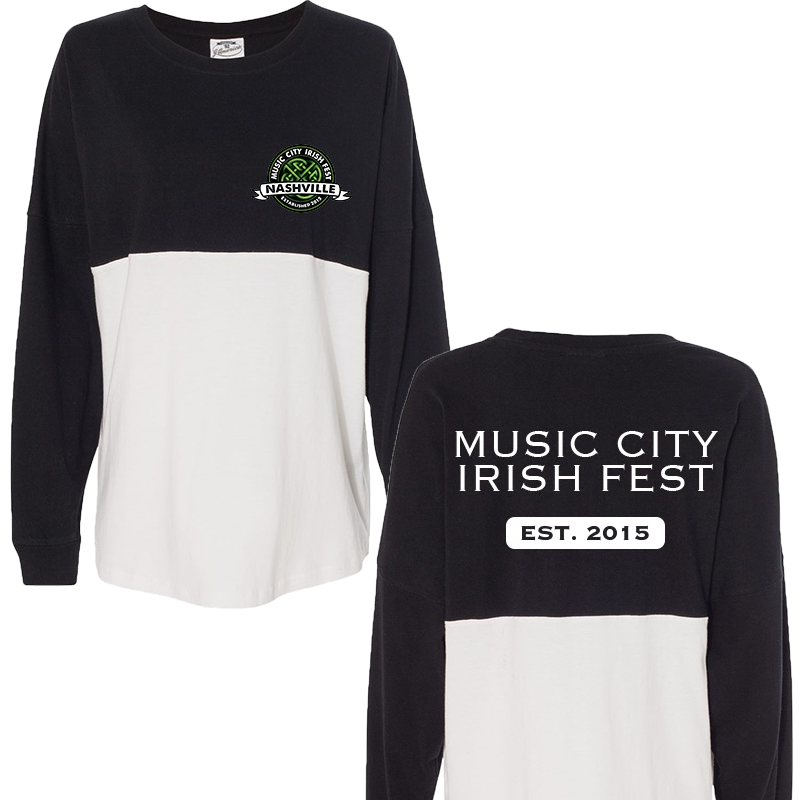 Music City Irish Fest White and Black Spirit Tee