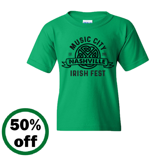 Music City Irish Fest YOUTH Irish Green Tee
