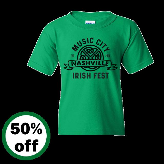 Music City Irish Fest YOUTH Irish Green Tee